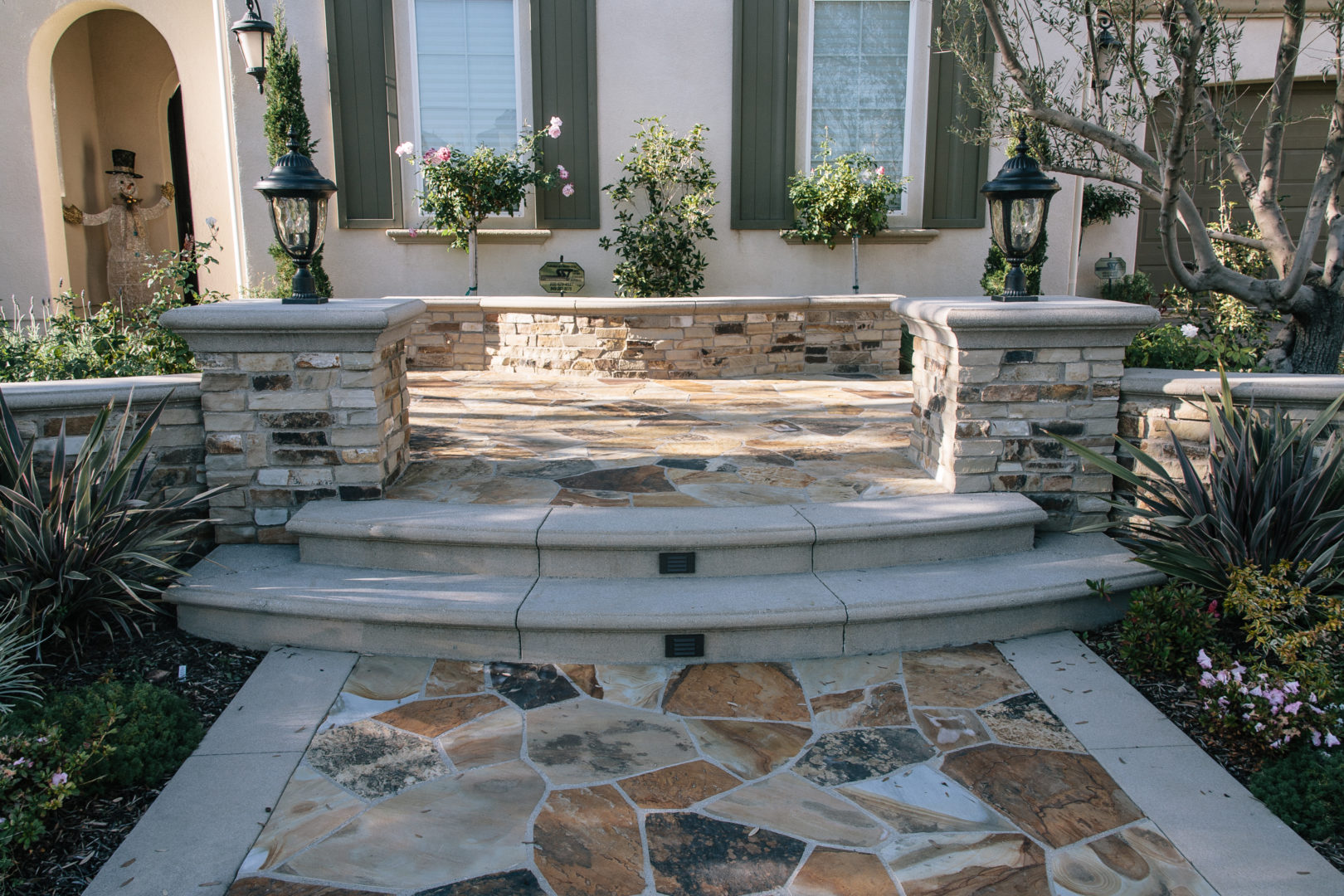 Gallery see luxury landscape designs from perspective for Landscaping front steps